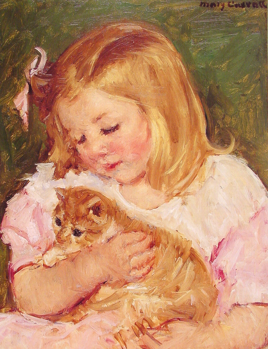 Juvenile oil painting