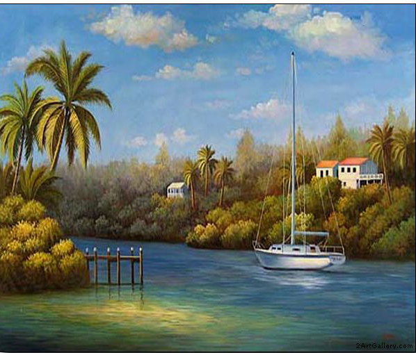 Boats and Ships oil painting