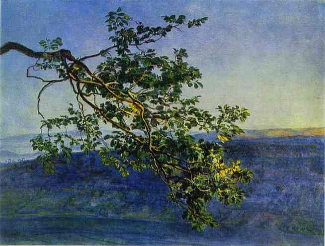 Oil painting:A Tree Branch. 1840