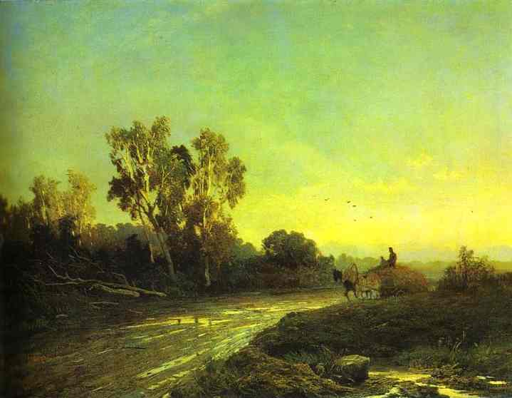 Oil painting:After a Rain. 1869