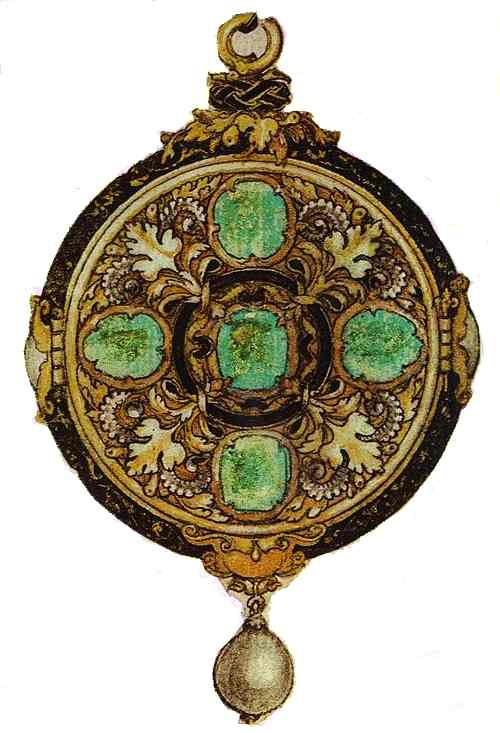 Oil painting:Design for Pendant. c.1533