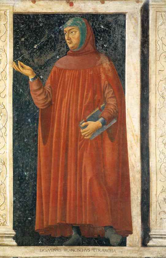 Oil painting:Francesco Petrarca. From the Cycle of Famous Men and Women. c. 1450