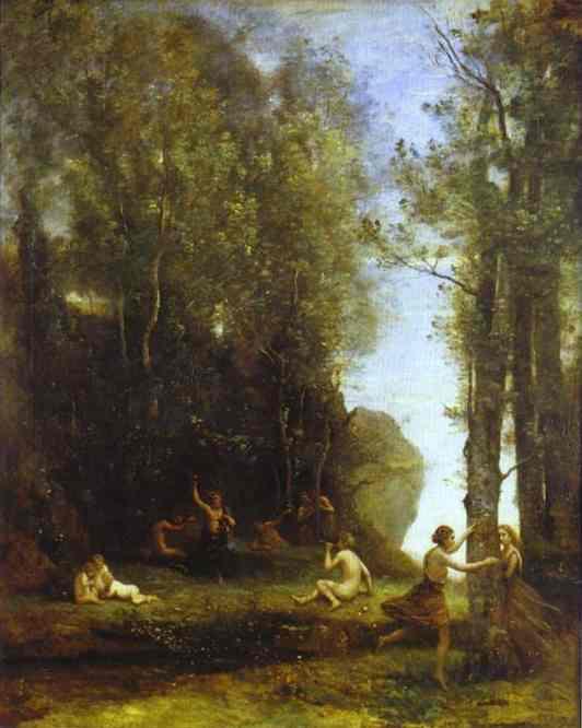 Oil painting:Idylle. 1859