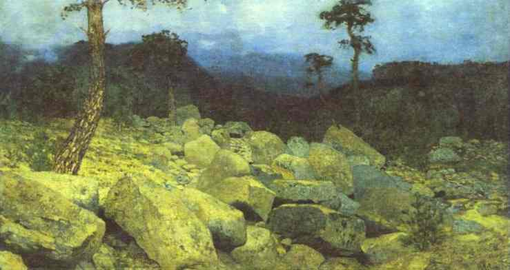 Oil painting:In the Mountains in the Crimea. 1886