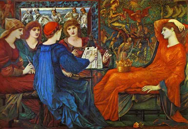 Oil painting:Laus Veneris. 1873