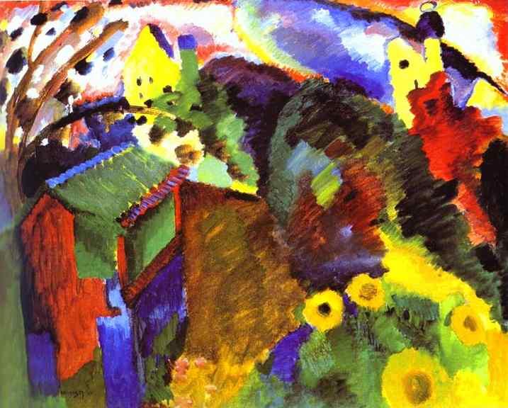 Oil painting:Murnau - Garden I. 1910