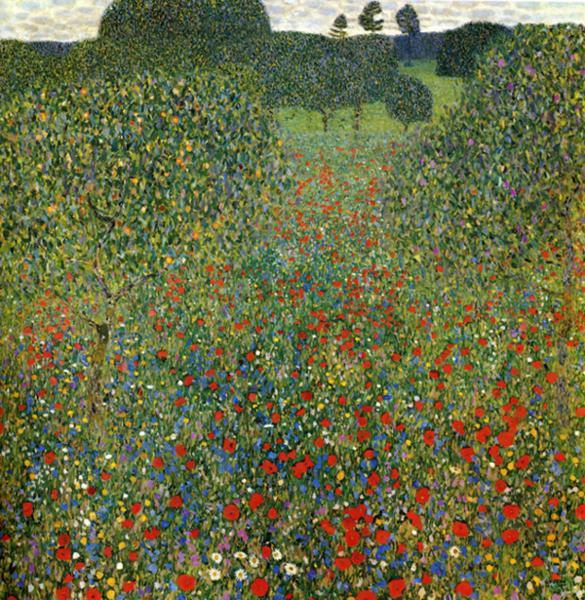 Oil painting:Poppy Field. 1907