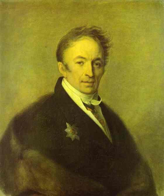 Oil painting:Portrait of Nikolay Karamzin. 1828