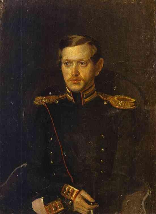 Oil painting:Portrait of S. S. Krylov. 1850