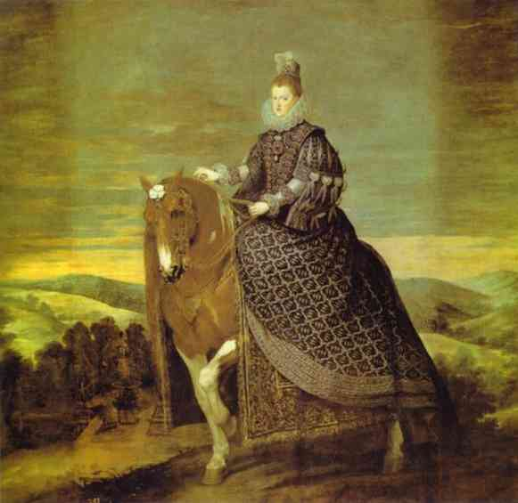 Oil painting:Queen Margarita on Horseback. 1634