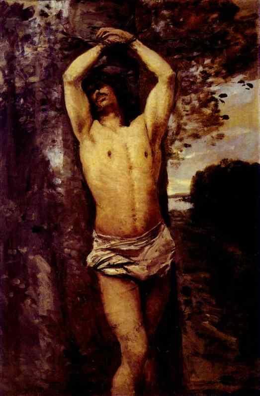 Oil painting:Saint Sebastian. 1850