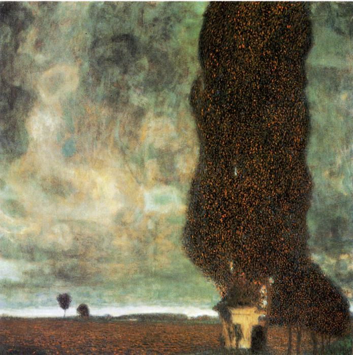 Oil painting:The Big Poplar II. 1902
