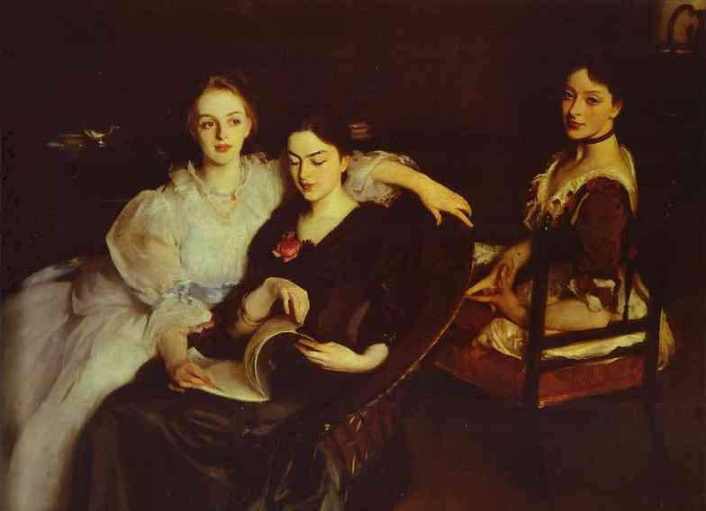 Oil painting:The Misses Vickers. 1884