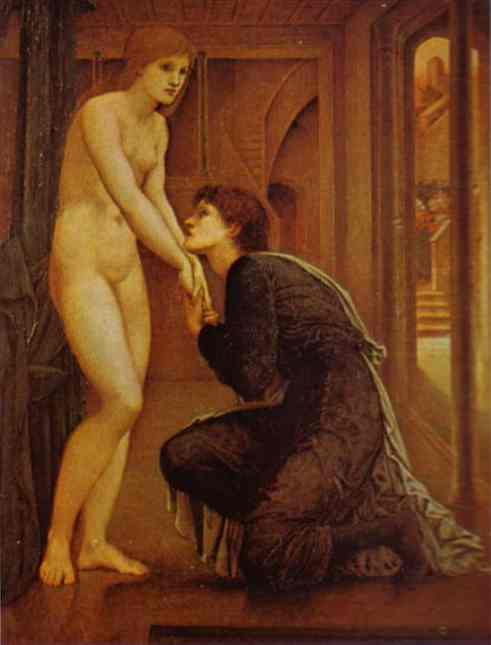 Oil painting:The Soul Attains. The Pygmalion Series. 1868