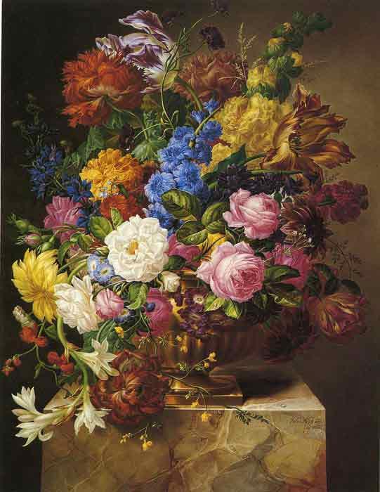 Oil painting for sale:Blumenbouquet, 1840