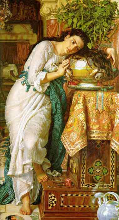 Oil painting for sale:Isabella and the Pot of Basil, 1867