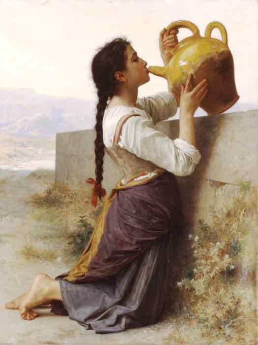 Oil painting for sale:La Soif [Thirst], 1886