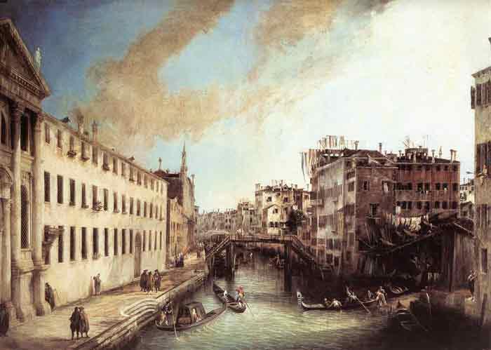 Oil painting for sale:Rio dei Mendicanti, 1723-1724