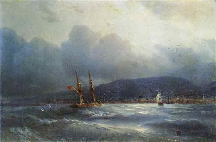 Oil painting for sale:Trebizond From the Sea, 1856