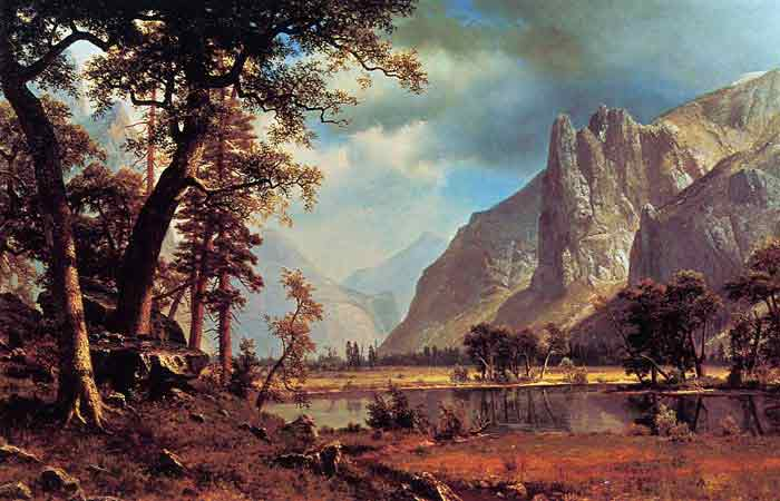 Oil painting for sale:Yosemite Valley , 1866