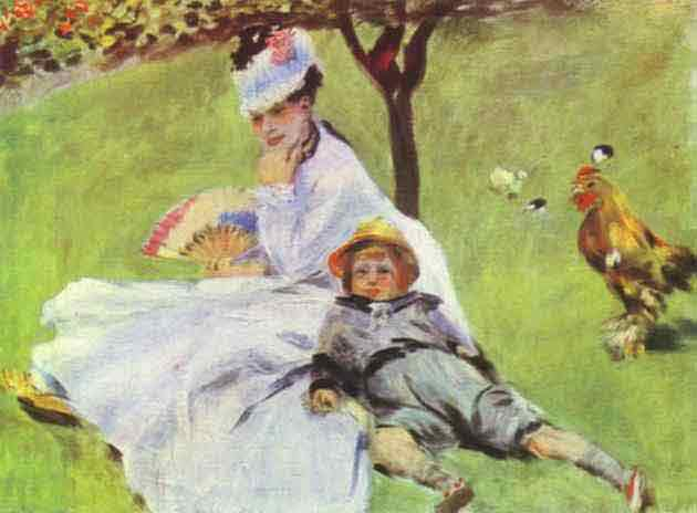 Madame Monet with Her Son. 1874