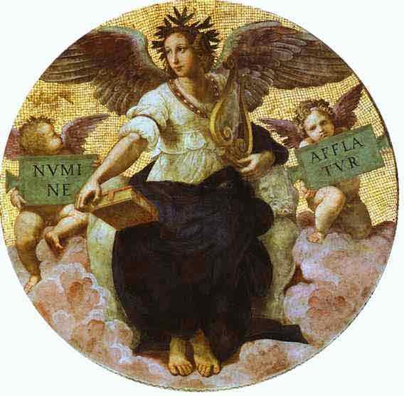 Poetry (ceiling tondo). 1509-1511