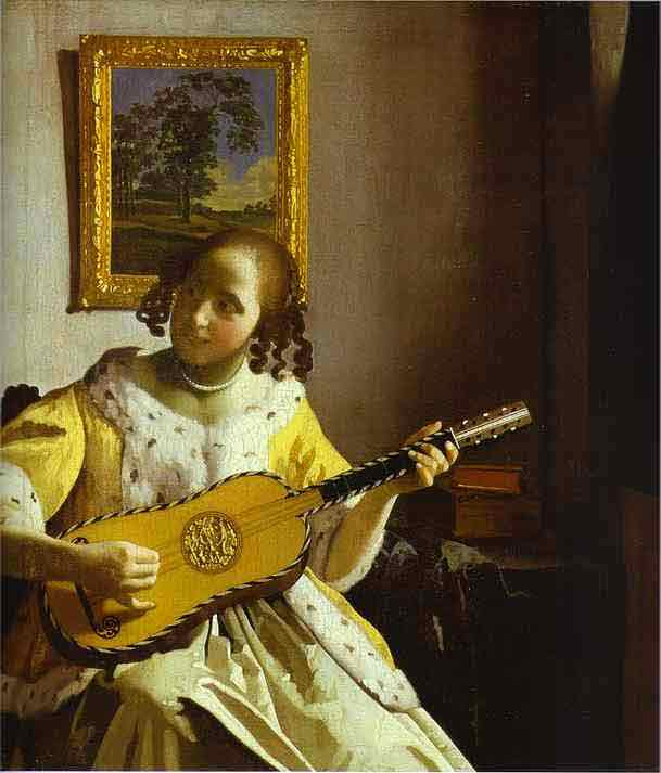The Guitar Player. c.1672