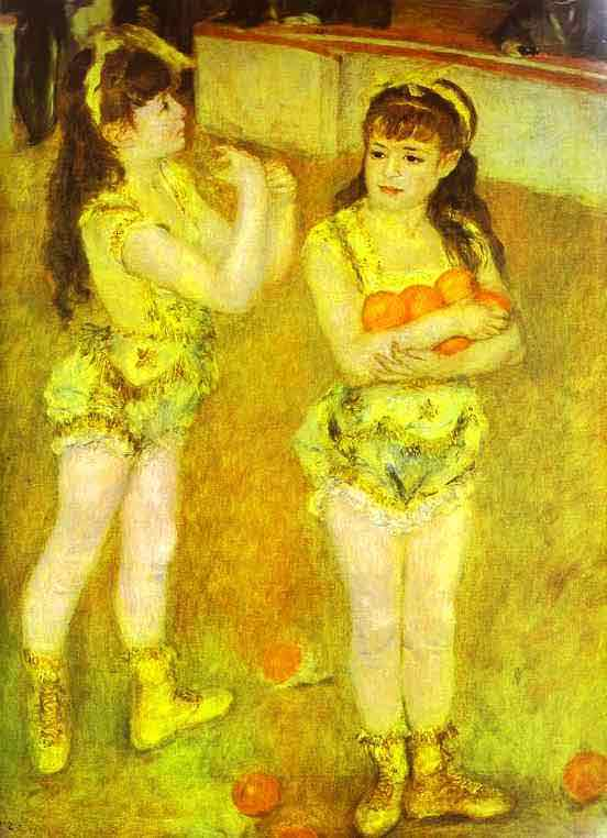 Two Little Circus Girls. 1879