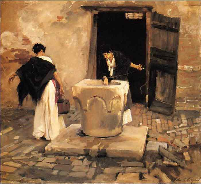 Oil painting for sale:Venetian Water Carriers , 1880