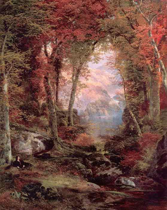 Oil painting for sale:The Autumnal Woods (Under the Trees), 1865