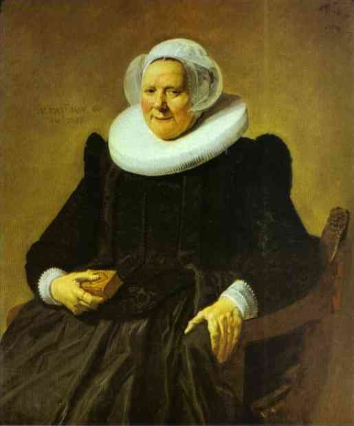 Oil painting:Portrait of an Elderly Lady. 1633