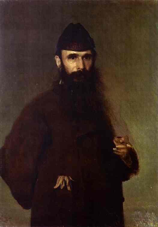 Oil painting:Portrait of the Artist Alexander Litovchenko. 1878