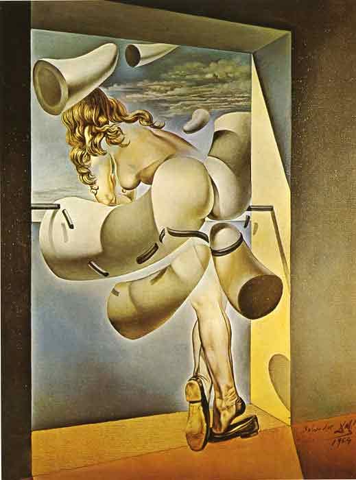 Oil painting for sale:Young Virgin Autosodomized by Her Own Chastity , 1954