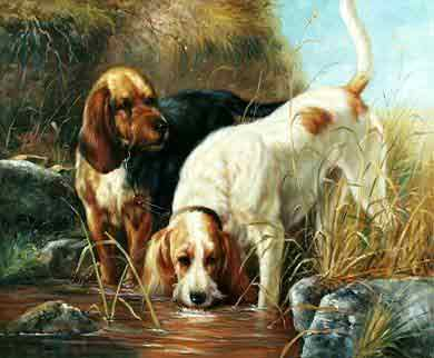 Oil painting for sale:dogs-043