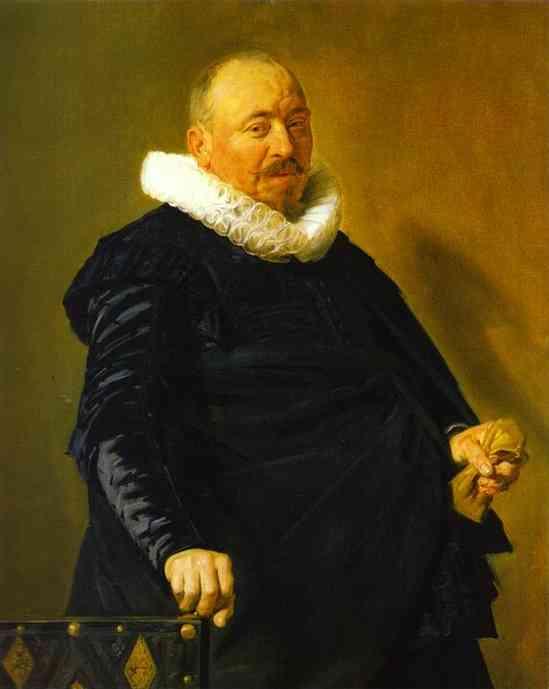 Oil painting:Portrait of an Elderly Man. c. 1627