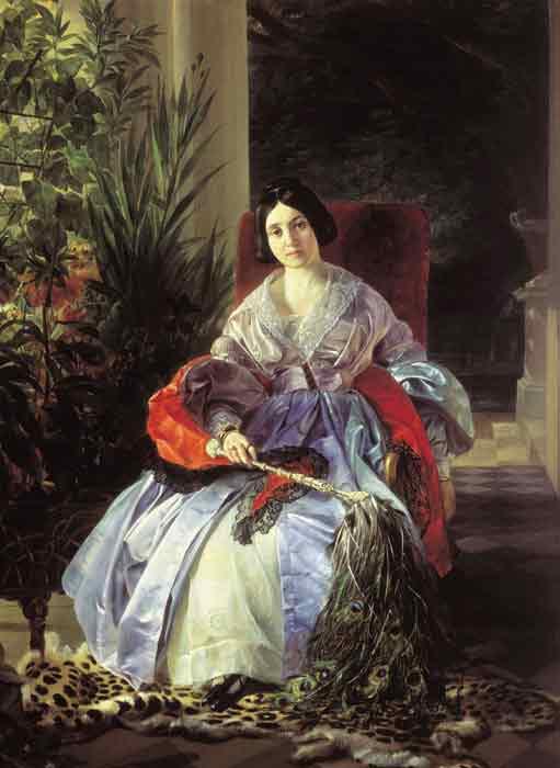 Oil painting for sale:Portrait of Royal Princess Elizabet Pavlovna Saltakova, 1841