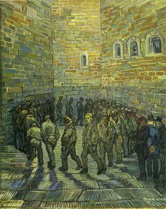 Oil painting for sale:The Prison Courtyard, (1890)