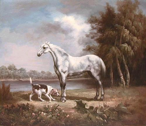 Oil painting for sale:horses-002