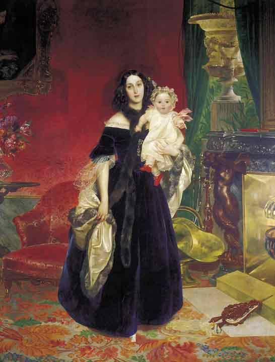 Oil painting for sale:Portrait of Maria Arkadevna Beck with Her Daughter, 1840