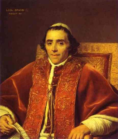 Oil painting:Portrait of Pope Pius VII. 1805