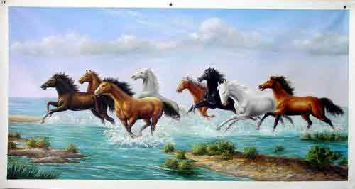 Oil painting for sale:horses-050