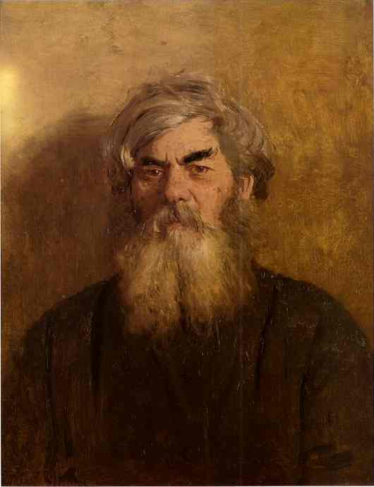 Oil painting:A Peasant with an Evil Eye. 1877
