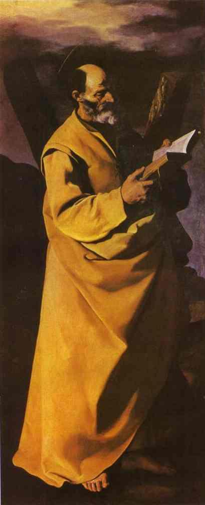 Oil painting:Apostle Andrew. c. 1630
