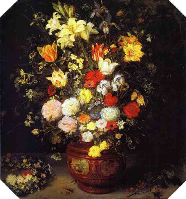 Oil painting:Bouquet of Flowers. c. 1609