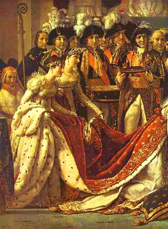 Oil painting:Consecration of the Emperor Napoleon I and Coronation of the Empress Josephine in the