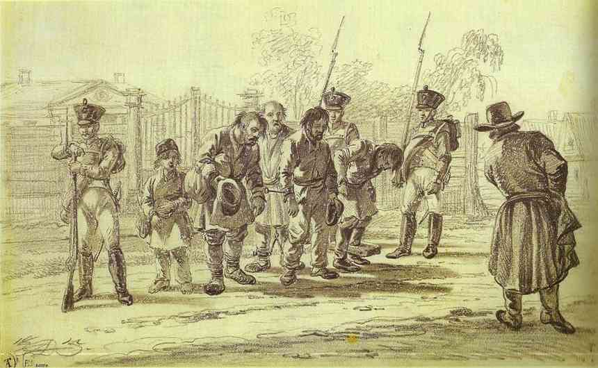 Oil painting:Convicts under Escort. 1815