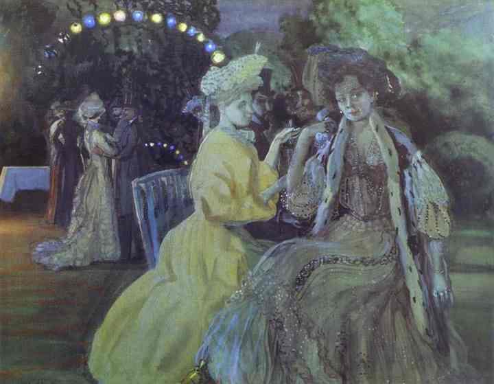 Oil painting:Courtesans. 1903