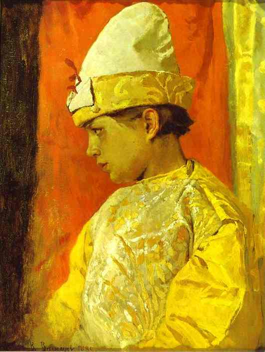 Oil painting:Dressed as a Buffoon. 1882