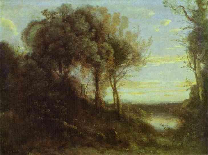 Oil painting:Evening. c. 1855