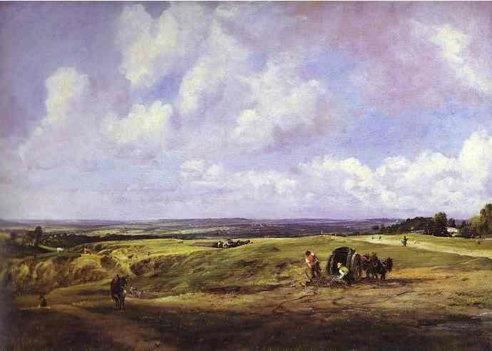 Oil painting:Hampstead Heath. c.1820